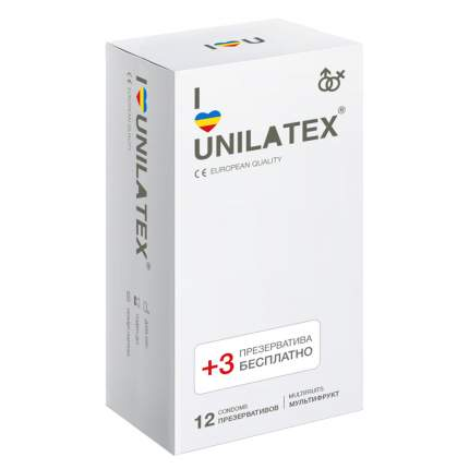 Презервативы Unilatex Multifruit 12+3 шт.