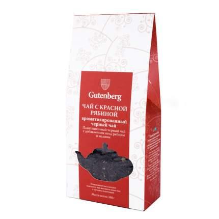 Чай черный Gutenberg ароматизированный с красной рябиной 100 г