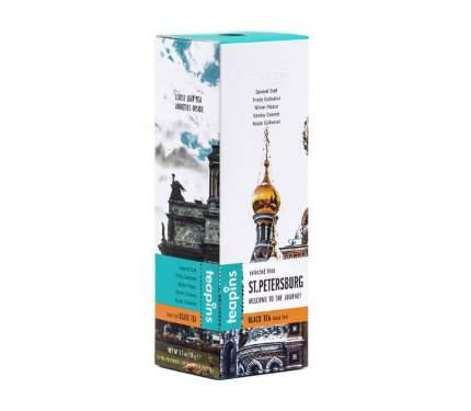 Чай подарочный черный листовой Saint Petersburg Teapins ассорти 5 видов черного чая