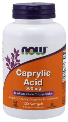 Для пищеварения NOW Caprylic Acid 600 мг 100 капсул