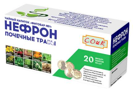 Фиточай СОиК Нефрон почечный ф/п 1,5 г 20 шт.