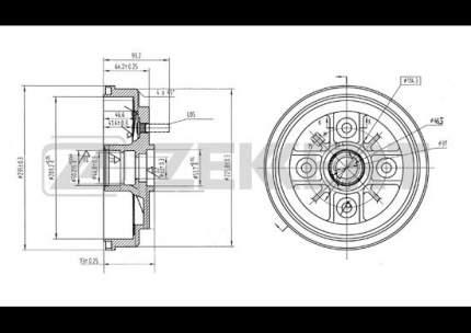 Тормозной барабан ZEKKERT BS-5112