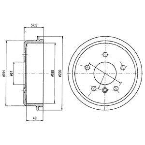 Тормозной барабан DELPHI BF395