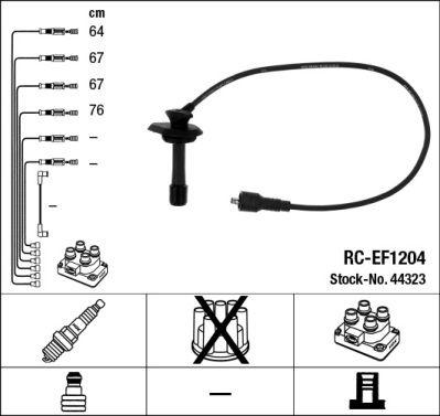 Комплект проводов зажигания NGK 44323