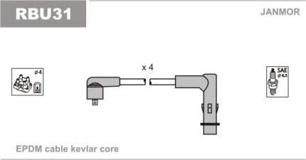 Комплект проводов зажигания JANMOR RBU31