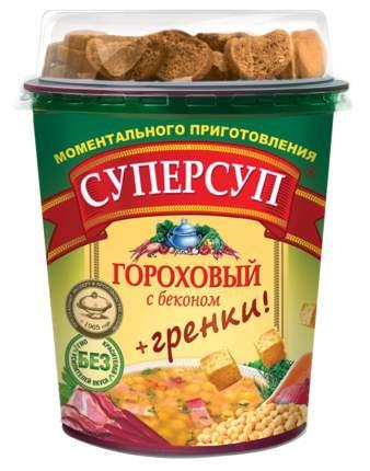 Суперсуп в стакане гороховый с беконом с гренками 45 г