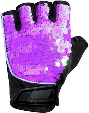 Перчатки для фитнеса Chiba Lady Line Glamour, розовые, XS