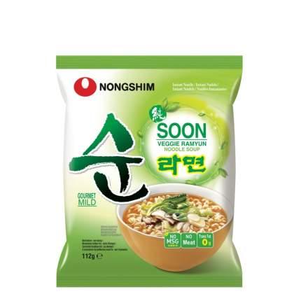 Лапша быстрого приготовления Soon Veggie овощная Nongshim 112 г