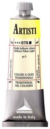Масляная краска Maimeri Artisti желтый яркий светлый 40 мл