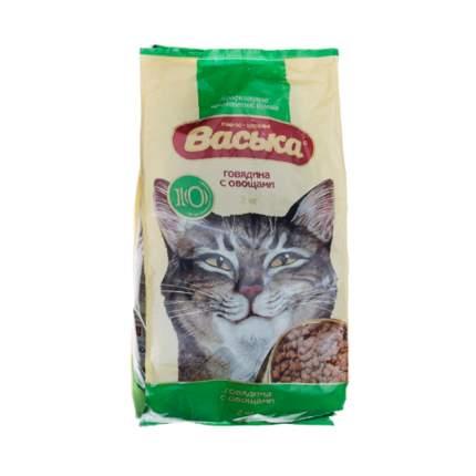 Сухой корм для кошек Васька, для профилактики МКБ, говядина, овощи, 2кг
