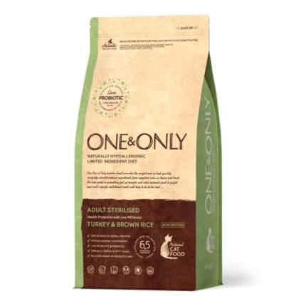 Сухой корм для кошек ONE&ONLY Adult STERILIZED, для стерилизованных, индейка и рис, 0,4кг