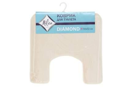 Коврик для туалета MiCasa Diamond бежевый 50х50 см