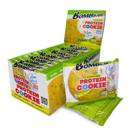 Печенье неглазированное Bombbar 40гр (коробка 12 шт.), Фисташка