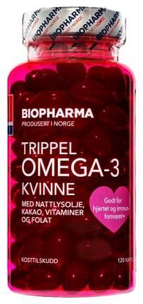 Тройная Омега-3 Biopharma для женщин капсулы 120 шт.