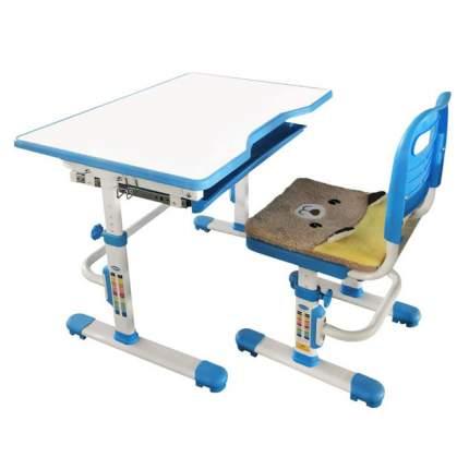 Комплект растущая парта и стул Rifforma SET-10 белый голубой,
