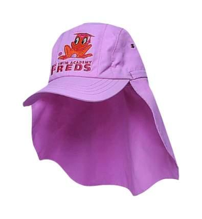 Freds Swim Academy Кепка Розовая Baba Rose с Козырьком и Защитой Шеи Размер 42/44