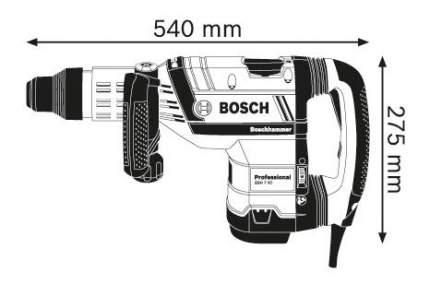 Сетевой отбойный молоток Bosch GSH 7 VC 611322000