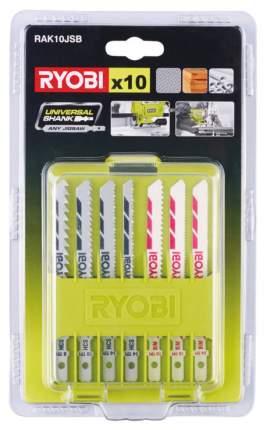 Набор пилок для лобзика Ryobi RAK10JSB X10 JIGS. BLADE KIT EMEA