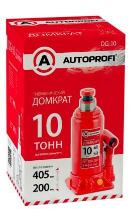 Домкрат гидравлический Autoprofi DG-10 бутылочный 10 т высота подъёма 405 мм