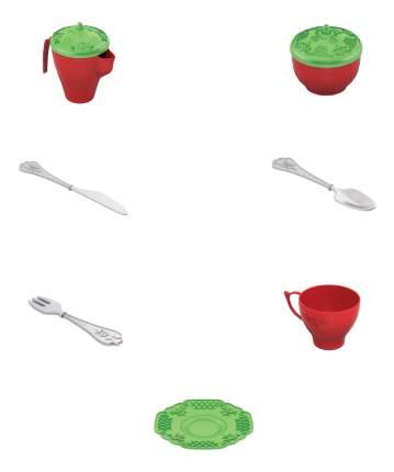 Набор посуды чайный сервиз волшебная хозяюшка, 24 предмета в сетке
