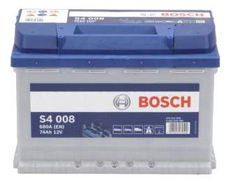 Аккумулятор автомобильный автомобильный Bosch S4 Silver 0 092 S40 080 74 Ач