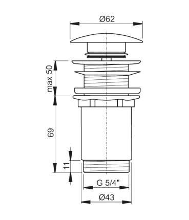Выпуск для раковины AlcaPlast A395 хром