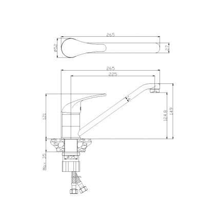 Смеситель для кухонной мойки Rossinka Silvermix Y40-21U хром