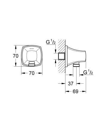 Подключение для душевого шланга Grohe 27970IG0