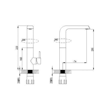 Смеситель для кухонной мойки Berholm Malme BERSB00B05 хром