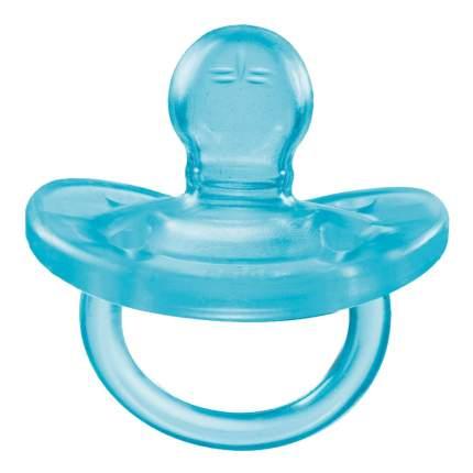 Силиконовая пустышка ортодонтическая Chicco 4М+ Blue