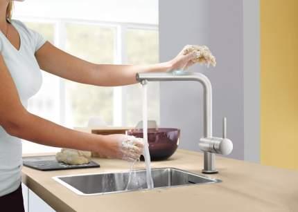 Смеситель для кухонной мойки Grohe Minta Touch 31360DC0 суперсталь