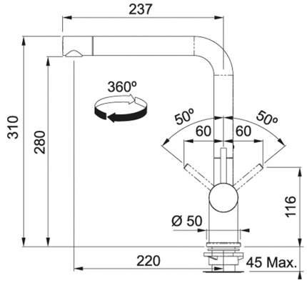 Смеситель для кухонной мойки Franke Active Plus 115.0373.820 графит
