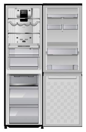 Холодильник Hitachi R-BG 410 PU6X Grey