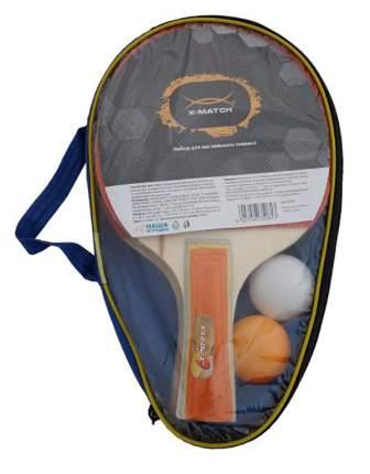 Набор для настольного тенниса X-Match 635061, 2 ракетки, 2 мяча
