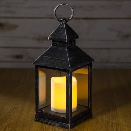 """Фонарь """"Оле Лукойе"""" со светодиодной свечой, 24*11*11 см, черный, батарейка 1020395"""