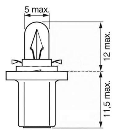 Лампа галогенная Bosch 1.2W H7 1987302514