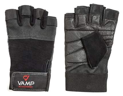 Перчатки для тяжелой атлетики и фитнеса VAMP 530, черные, XXL