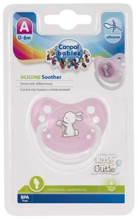 Пустышка силиконовая анатомическая Canpol Babies Little Сuties 0-6 мес 23/265, Розовая