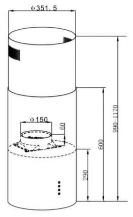 Вытяжка островная MAUNFELD Lee Light (Isla) 35 White