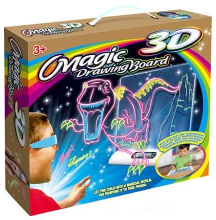 Доска для рисования Young Mindz Toys Magic с 3D эффектом свет