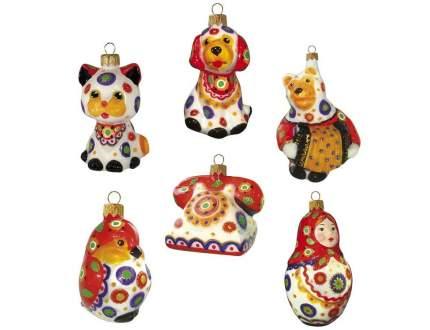 Ёлочная игрушка Весёлый переполох собачка 10 см арт. 610.9-ариэль