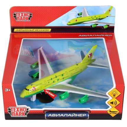 Самолет Технопарк Авиалайнер S7 17.5x19.5 см со звуковыми и световыми эффектами