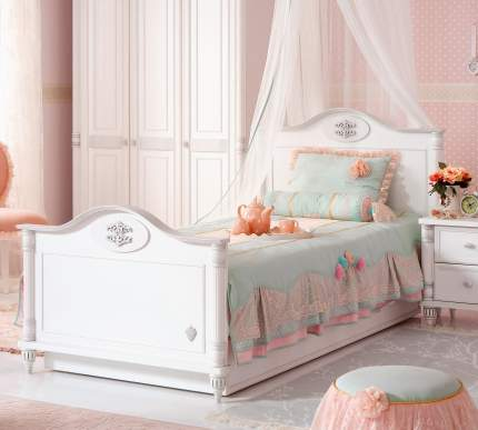 Кровать Cilek Romantic 100х200 см, белый
