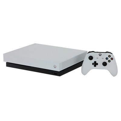 Игровая приставка Microsoft Xbox One X 1Tb White + Игра Metro Exodus