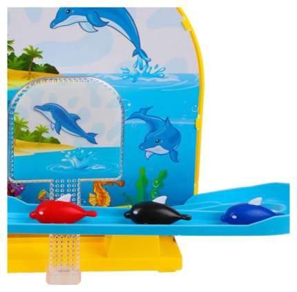 Интерактивная игрушка для купания Наша игрушка Горка С Тремя Дельфинами