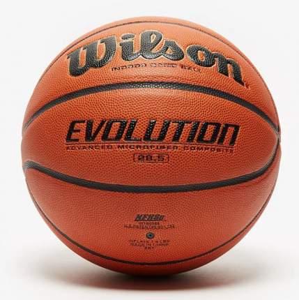 Мяч баскетбольный Wilson Evolution WTB0586, 6, оранжевый