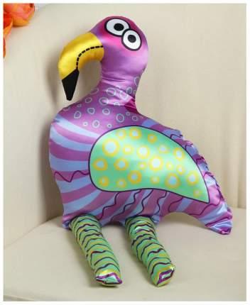 Мягкая игрушка Sima-Land Фламинго, фиолетовые полосы