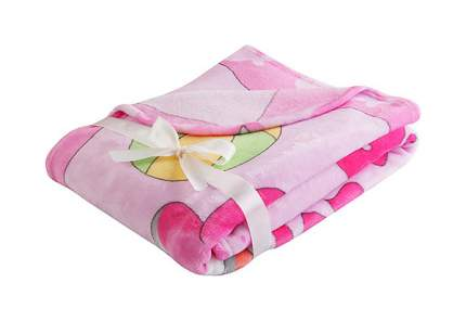 Плед-покрывало Наша Мама Зверушки цвет розовый