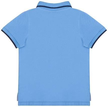 Поло с коротким рукавом для мальчика Barkito BTS, голубой р.134