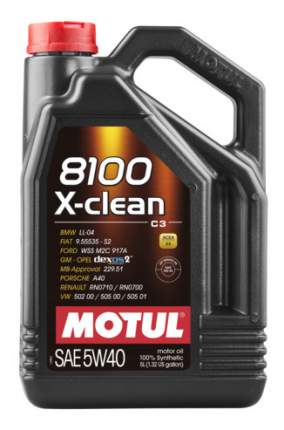 Масло моторное Motul 8100 X-clean 5w-40 5l